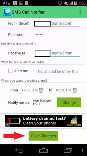 SMS-Call-Notifier-Potvrdiť