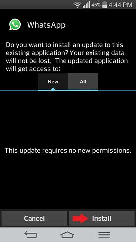 whatsapp nainštalovať android
