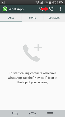 whatsapp hlasový hovor pre Android