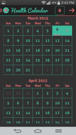 Ahoj kalendár na sledovanie zdravia