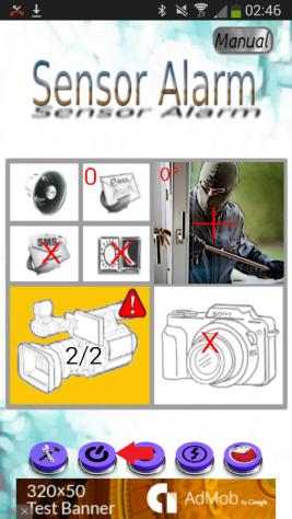 Špionážna kamera so senzorom alarmu