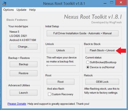 súbor nástrojov root root nexus