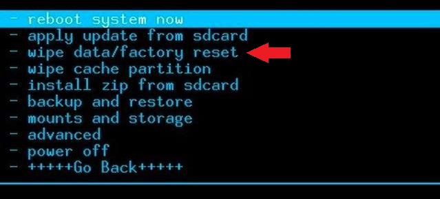 Vymazanie údajov obnovy