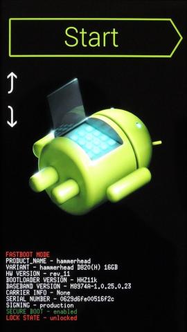 Nexus 5 zotavenie