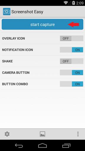 snímka obrazovky ľahký štart