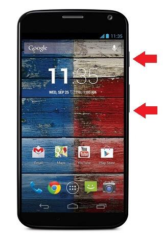 snímka obrazovky moto x