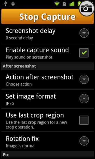 nastavenia ux snímky obrazovky