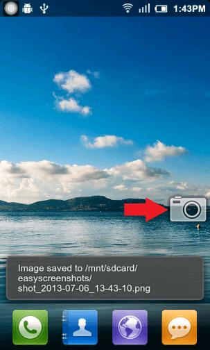 Spustenie snímky obrazovky