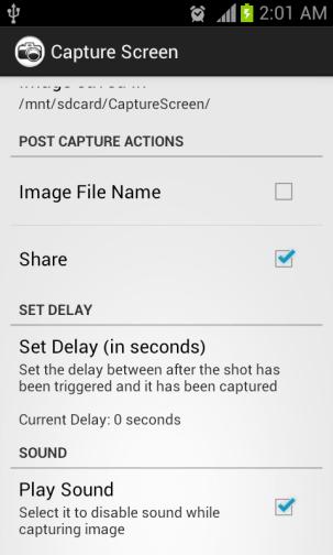 Možnosti snímania obrazovky