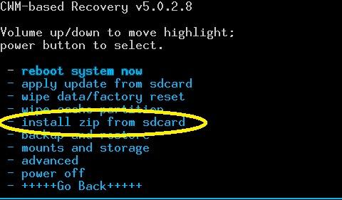 nainštalovať ZIP z pamäťovej karty