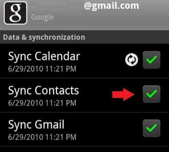 Synchronizovať kontakty