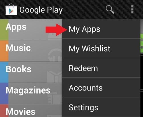 Obchod Play Moje aplikácie