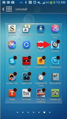 Vyberte zásuvku aplikácie