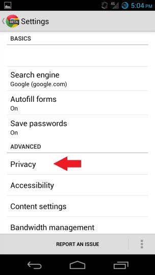 Ochrana osobných údajov prehliadača Chrome