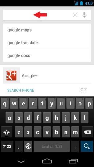Vyhľadávací text Google