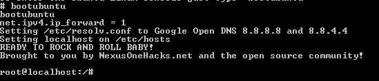 Príkaz na spustenie Ubuntu