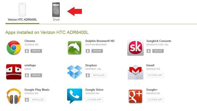 Webové zariadenie Google Play