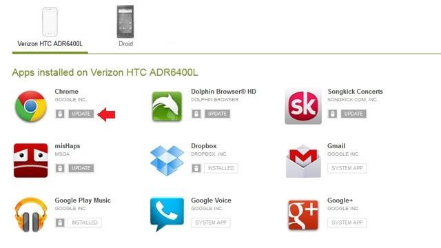 Aktualizácia webu Google Play