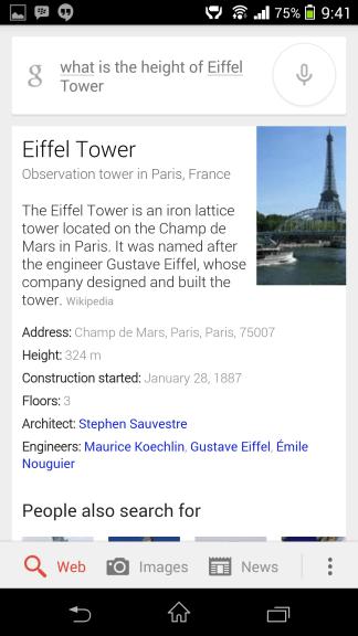 Eiffelova veža, Asistent Google