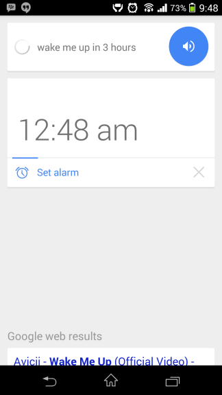 Nastaviť budík Google Now