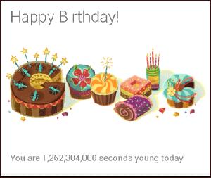 Narodeniny Google Now