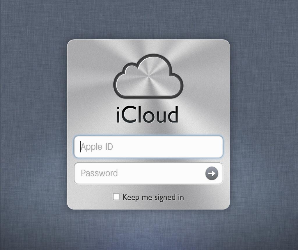 Prihlásenie na iCloud