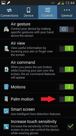 Poznámka 3 pohyb dlane