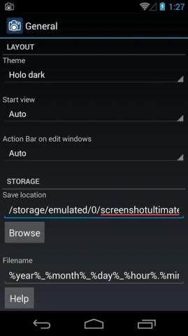 umiestnenie priečinka so snímkou obrazovky