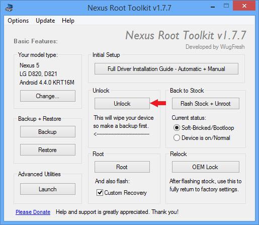 Odomknite bootloader