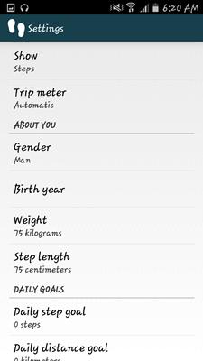 Aplikácia WalkLogger Pedometer - 029