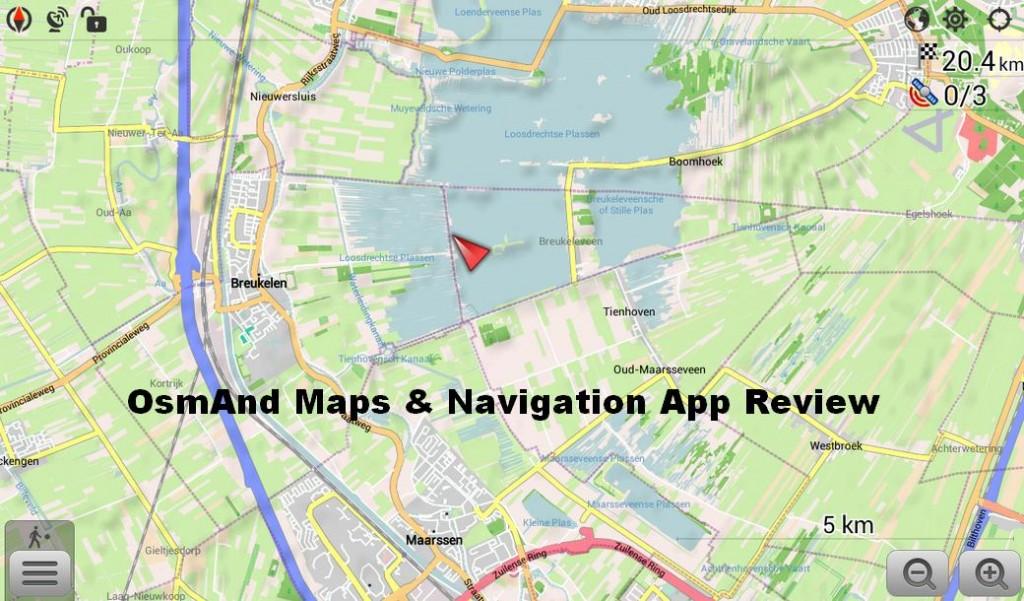 Kontrola aplikácie OsmAnd Maps & Navigation