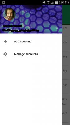 Snímka obrazovky aplikácie Hangouts