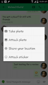 Aplikácia Hangouts