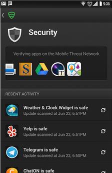 skenujte aplikácie na prítomnosť vírusov a škodlivého softvéru