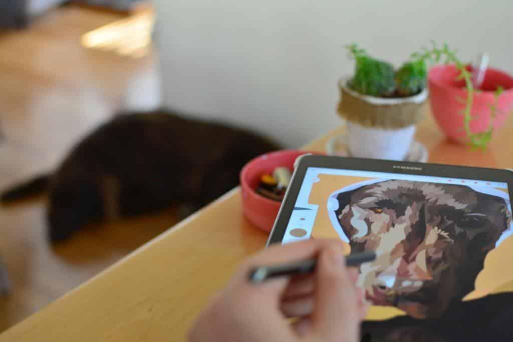 6 Skvelé tablety Android pre kreslenie: Kreslenie tabliet dotykovým perom 1