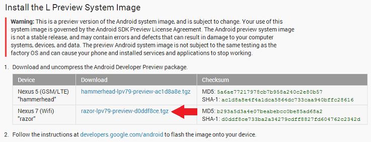 Android L Stiahnuť