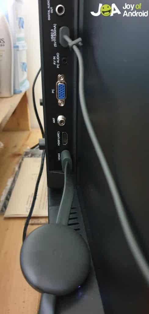 Nastavte Chromecast - pripojte k televízoru