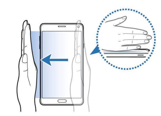prejdenie prstom po snímke obrazovky