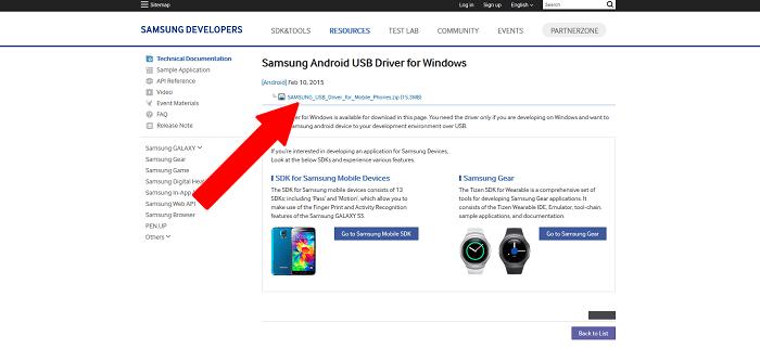 ovládače USB od spoločnosti Samsung
