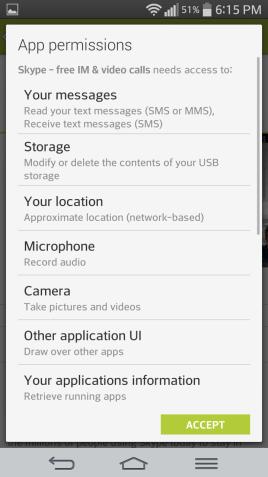 povolenia obchodu Google Play