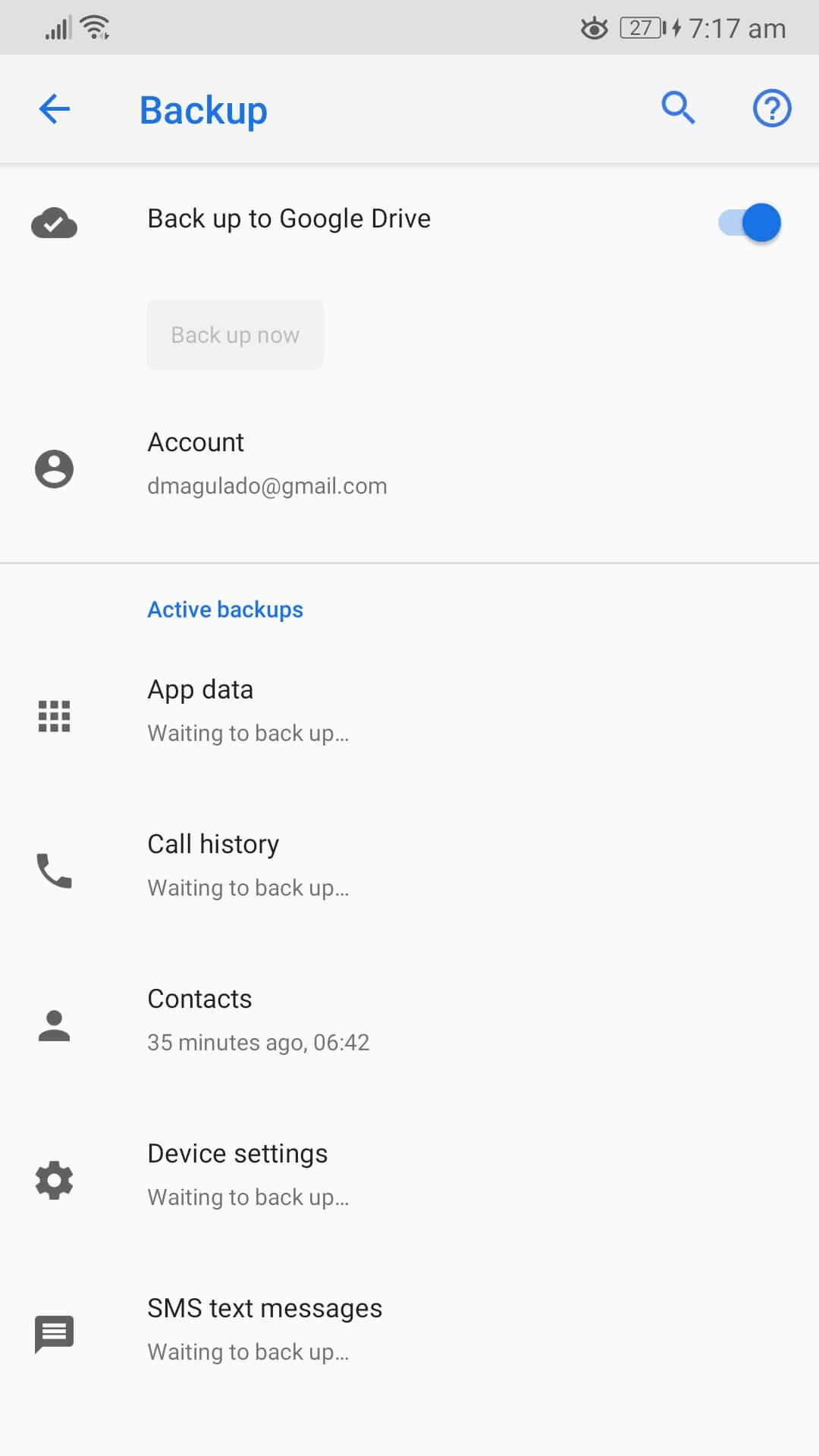 Zálohovať do účtu Google