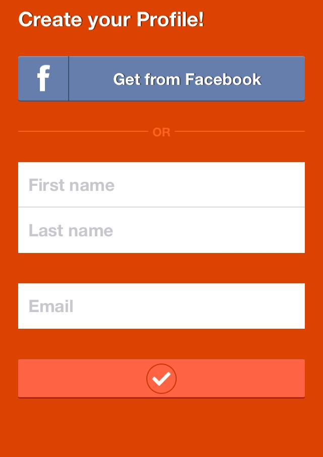 vytvorte si profil alebo použite facebook