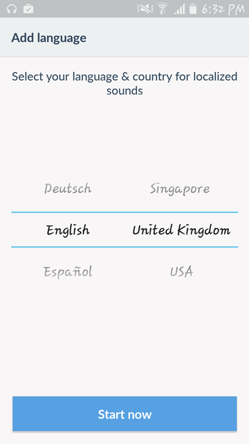 Prieskum Dubsmash - jazyk