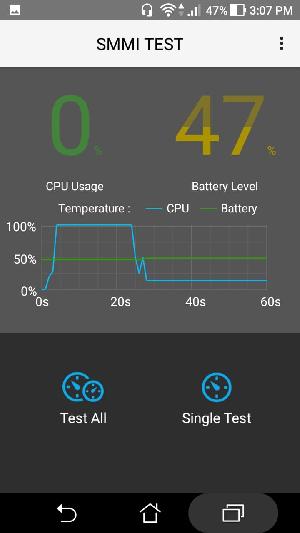 Snímka obrazovky testu Asus SMMI
