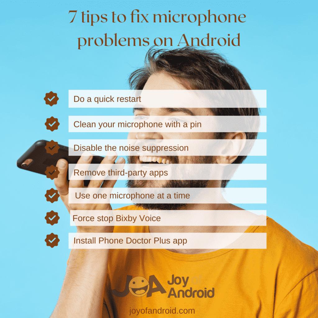 tipy na riešenie problémov s mikrofónom v systéme Android